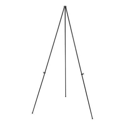 "Instant Setup Foldaway Easel, Adjusts 15"" To 61"" High, Steel, Black"