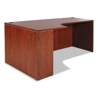 ALERA VALENCIA LEFT CORNER CREDENZA SHELL, 70.88W X 35.38D X 29.5H, MEDIUM CHERRY