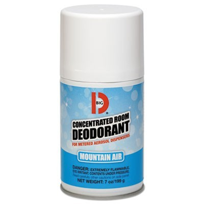 METERED CONCENTRATED ROOM DEODORANT, MOUNTAIN AIR SCENT, 7 OZ AEROSOL, 12/CARTON