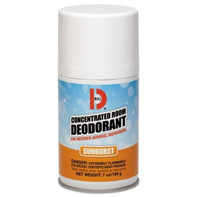 Metered Concentrated Room Deodorant, Sunburst Scent, 7 Oz Aerosol, 12/carton