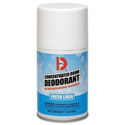 Metered Concentrated Room Deodorant, Fresh Linen Scent, 7 Oz Aerosol, 12/box
