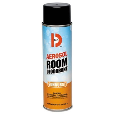 Aerosol Room Deodorant, Sunburst Scent, 15 Oz Can, 12/carton