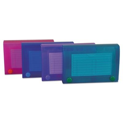 Index Card Case, Holds 100 3 X 5 Cards, Polypropylene, Assorted Colors