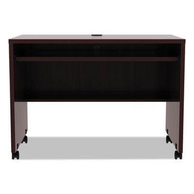 ALERA VALENCIA MOBILE WORKSTATION DESK, 41.38W X 23.63D X 30H, MAHOGANY