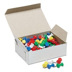 "7510012073978 SKILCRAFT COLOR PUSH PINS, PLASTIC, ASSORTED, 3/8"", 100/BOX"