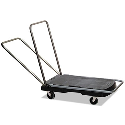 UTILITY-DUTY HOME/OFFICE CART, 250 LB CAPACITY, 20.5 X 32.5, PLATFORM, BLACK