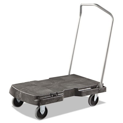 TRIPLE TROLLEY, 500-LB CAPACITY, 20.5W X 32.5D X 7H, BLACK