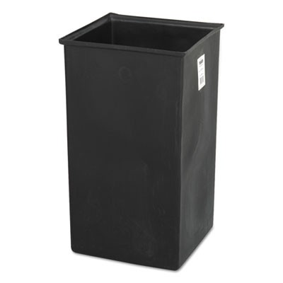 RIGID LINER FOR SAF9728/SAF9729 WASTE RECEPTACLES, PLASTIC, 36 GAL, BLACK