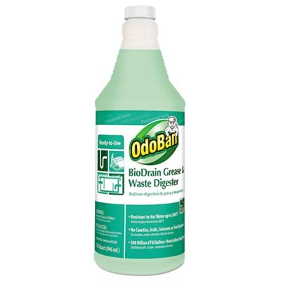 BIODRAIN GREASE AND WASTE DIGESTER, FLORAL SCENT, 32 OZ BOTTLE, 12/CARTON