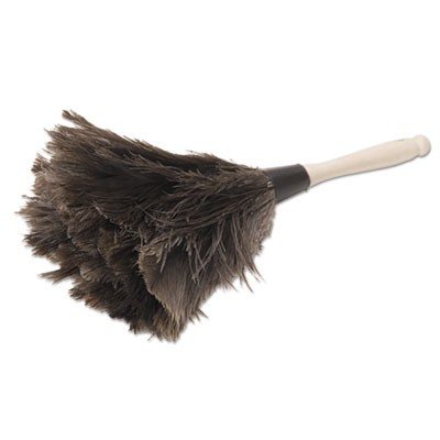 "Professional Ostrich Feather Duster, 4"" Handle"