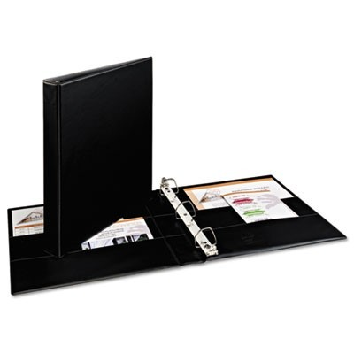 "DURABLE NON-VIEW BINDER WITH DURAHINGE AND EZD RINGS, 3 RINGS, 1"" CAPACITY, 11 X 8.5, BLACK"