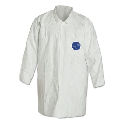 Tyvek Lab Coat Two Pockets, White, 2x-Large, 30/carton