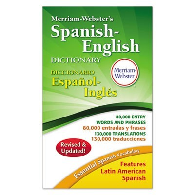 MERRIAM-WEBSTER'S SPANISH-ENGLISH DICTIONARY, 928 PAGES