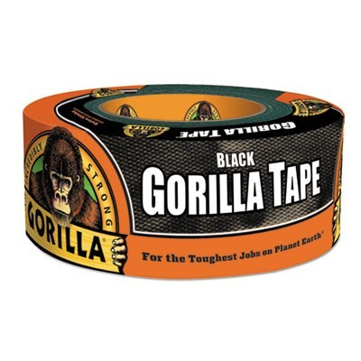 "GORILLA TAPE, 3"" CORE, 1.88"" X 12 YDS, BLACK"