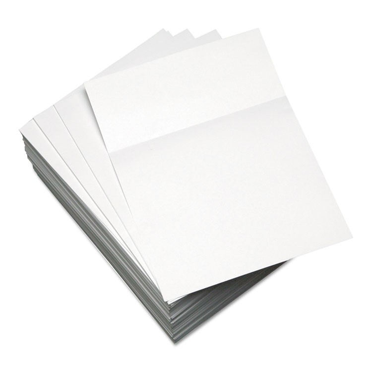 CUSTOM CUT-SHEET COPY PAPER, 92 BRIGHT, 20LB, 8.5 X 11, WHITE, 500/REAM