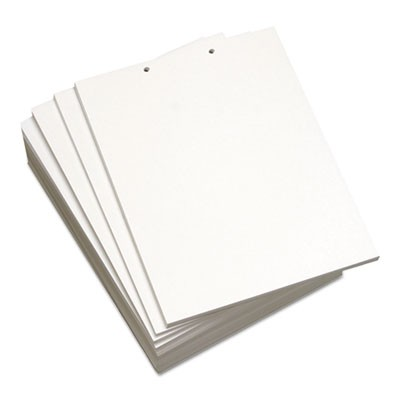 CUSTOM CUT-SHEET COPY PAPER, 92 BRIGHT, 2-HOLE, 20LB, 8.5 X 11, WHITE, 500 SHEETS/REAM, 5 REAMS/CARTON