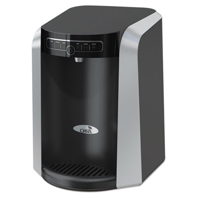 AQUARIUS COUNTER TOP HOT N COLD WATER COOLER, 177 OZ/COLD WATER PER HOUR; 270 OZ/HOT WATER PER HOUR, BLACK