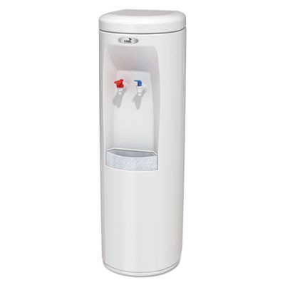 ATLANTIS FLOORSTAND HOT N COLD WATER COOLER, 177 OZ/COLD WATER PER HOUR; 270 OZ/HOT WATER PER HOUR, WHITE