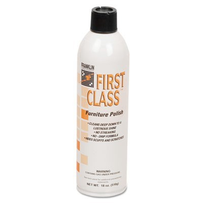 First Class Furniture Polish, Floral Scent, 18 Oz Aerosol Can, 12/carton