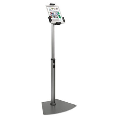 "Tablet Kiosk Floor Stand For 7"" To 10"" Tablets, Silver"