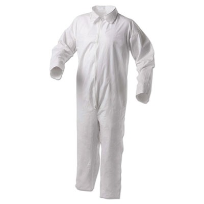 A35 Liquid And Particle Protection Coveralls, White, 4x-Large, 25/carton
