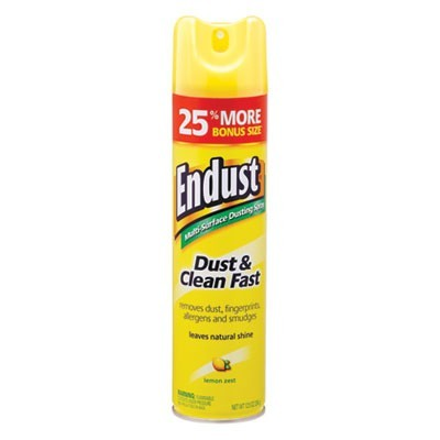 Endust Multi-Surface Dusting And Cleaning Spray, Lemon Zest, 6/carton