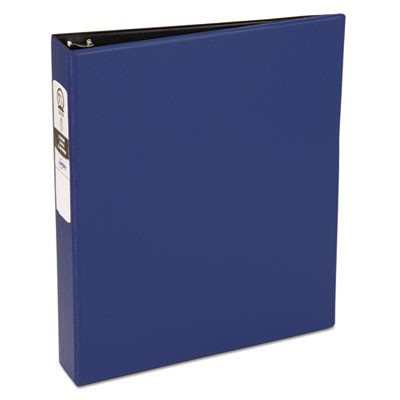 "ECONOMY NON-VIEW BINDER WITH ROUND RINGS, 3 RINGS, 1.5"" CAPACITY, 11 X 8.5, BLUE"