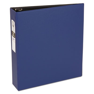 "ECONOMY NON-VIEW BINDER WITH ROUND RINGS, 3 RINGS, 2"" CAPACITY, 11 X 8.5, BLUE"