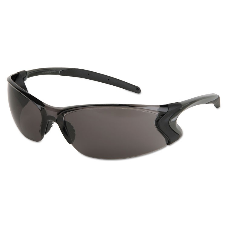 BACKDRAFT GLASSES, CLEAR FRAME, ANTI-FOG GRAY LENS
