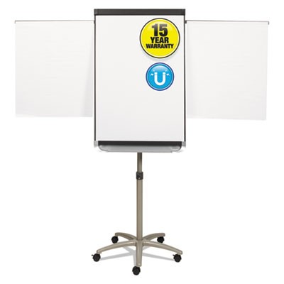 Prestige 2 Mobile Presentation Easel, 3 Ft X 2 Ft, Silver/white