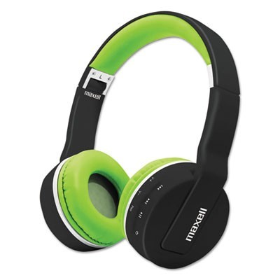 BLUETOOTH HEADPHONE WITH MIC, BLACK/GREEN
