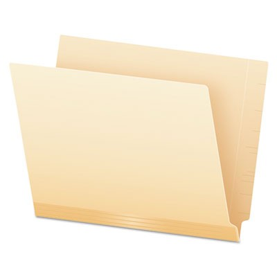 MANILA LAMINATED SPINE SHELF FILE FOLDERS, STRAIGHT TAB, LETTER SIZE, 100/BOX