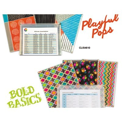 "PLAYFUL POPS AND BOLD BASICS ZIP 'N GO REUSABLE ENVELOPE, 13.13"" X 10"", 3/PACK"