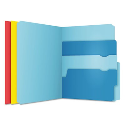 DIVIDE IT UP FILE FOLDERS, 1/2-CUT TABS, LETTER SIZE, ASSORTED, 24/PACK