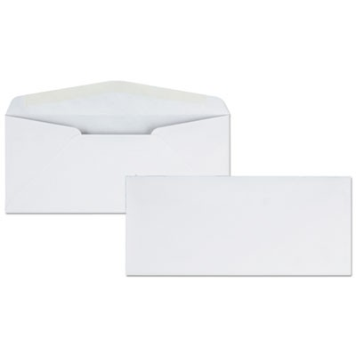 BUSINESS ENVELOPE, #10, BANKERS FLAP, GUMMED CLOSURE, 4.13 X 9.5, WHITE, 500/BOX