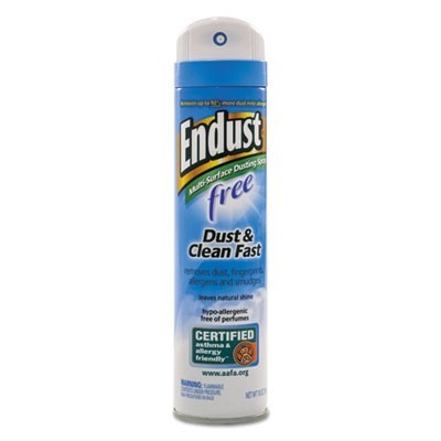 ENDUST FREE HYPO-ALLERGENIC DUSTING AND CLEANING SPRAY, 10 OZ AEROSOL, 6/CT
