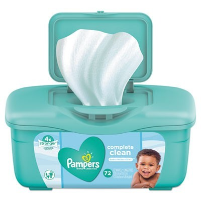 COMPLETE CLEAN BABY WIPES, 1 PLY, BABY FRESH, 72 WIPES/TUB, 8 TUBS/CARTON