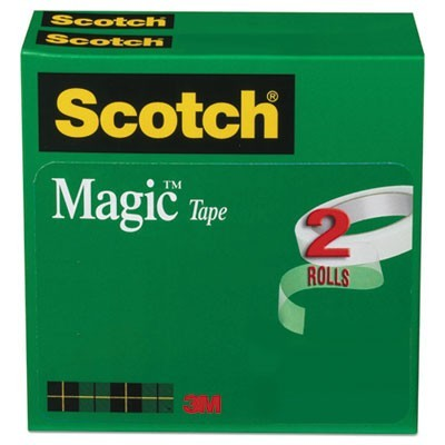 "MAGIC TAPE REFILL, 3"" CORE, 0.75"" X 72 YDS, CLEAR, 2/PACK"