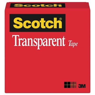 "TRANSPARENT TAPE, 1"" CORE, 0.5"" X 36 YDS, TRANSPARENT"