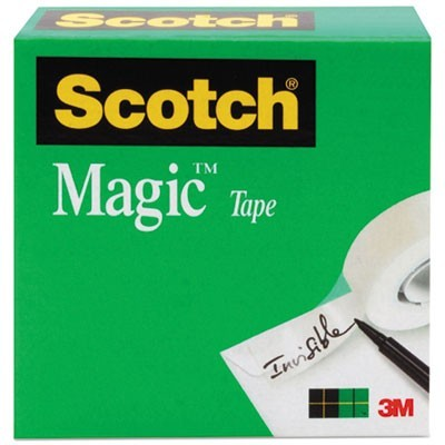 "MAGIC TAPE REFILL, 1"" CORE, 0.5"" X 36 YDS, CLEAR"