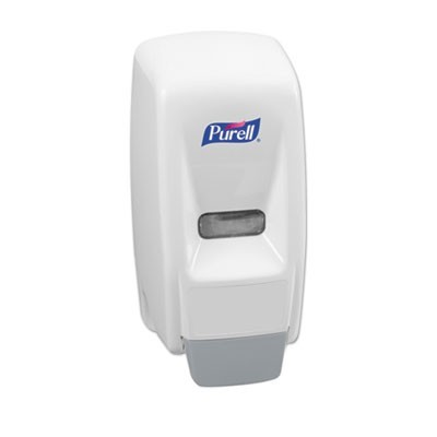 "BAG-IN-BOX HAND SANITIZER DISPENSER, 800 ML, 5.63"" X 5.13"" X 5.13"", WHITE"