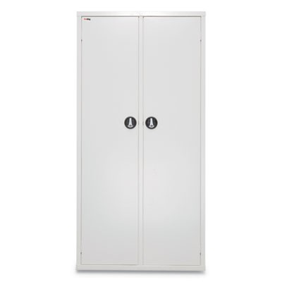 MEDICAL STORAGE CABINET WITH CAM LOCK, 36W X 15D X 72H, WHITE