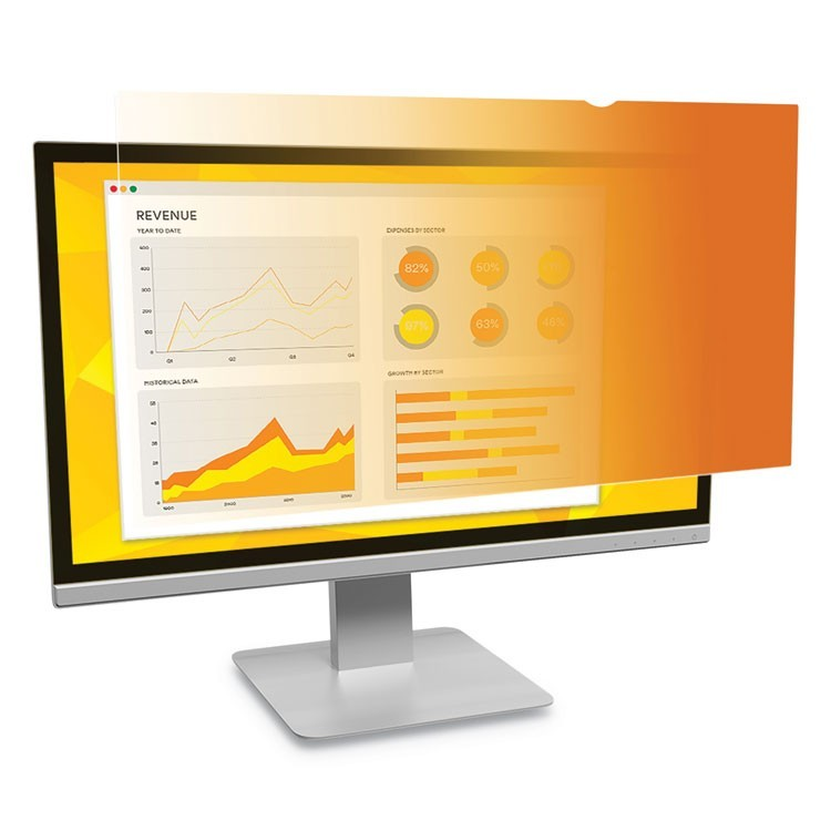 "GOLD FRAMELESS PRIVACY FILTER FOR 23.8"" WIDESCREEN MONITOR, 16:9 ASPECT RATIO"