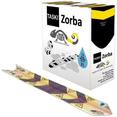 "ZORBA ABSORBENT CONTROL STRIPS, 0.5 GAL, 4.7"" X 23.6"", 50/PACK"