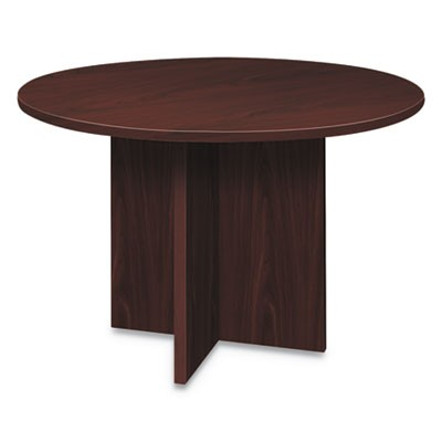 FOUNDATION ROUND CONFERENCE TABLE, 47 DIA X 29 1/2H, MAHOGANY