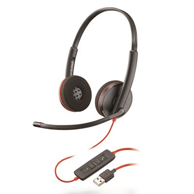 BLACKWIRE 3220, BINAURAL, OVER THE HEAD HEADSET