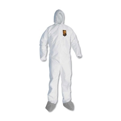 A45 LIQUID AND PARTICLE PROTECTION SURFACE PREP/PAINT COVERALLS, MEDIUM, 25/CT