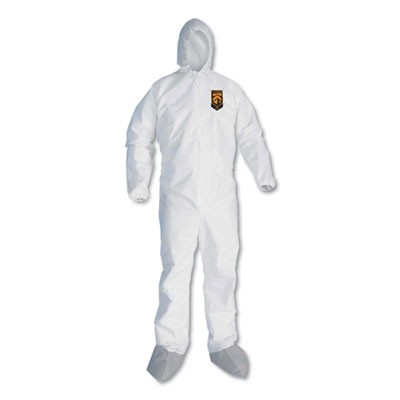 A30 BREATHABLE SPLASH AND PARTICLE PROTECTION COVERALLS, MEDIUM, WHITE, 25/CT