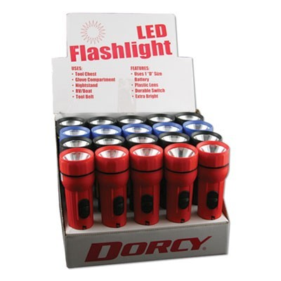 LED UTILITY FLASHLIGHT, 1 D BATTERY (SOLD SEPARATELY), ASSORTED