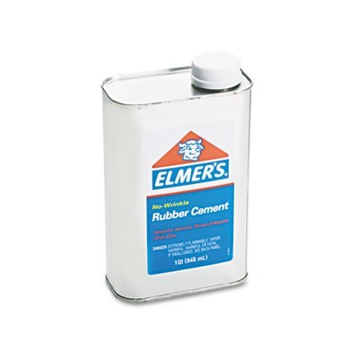 RUBBER CEMENT, 32 OZ, DRIES CLEAR